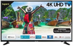 Samsung 55 Inch 4K UHD TV & Cough